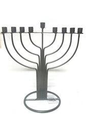 Metal Chanukah MENORAH - - - -חנוכה מנורה jewish chanuka candle judaica hanukka