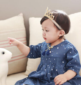 Fashion Baby Kids Infant Toddler Girl Princess Crown Crystal Headband Hair Band