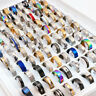 100pcs/lot mix styles TOP rings men's women's fashion stainless steel jewelry