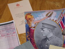 YCV WILLIAM MCFADZEAN VC UNMISSABLE COLLECTION OF ARTICLES, DEATH SCROLL ETC UVF