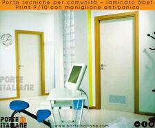 Porte tecniche per comunità - laminato Abet Print 9/10 con maniglione antipanico