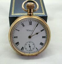 Vintage 10ct Gold Filled Waltham Traveler Open Face Pocket Watch