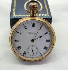 Vintage 10ct Gold Filled Waltham Traveler Open Face Pocket Watch