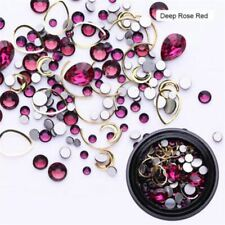 1 Box 3D AB Color Nail Art Rhinestone Glitter Nails Crystal Decorations Tools