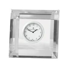 ROYAL DOULTON Radiance Giftware Clock Square Faceted