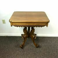 Antique Eastlake Carved Center Parlor Table