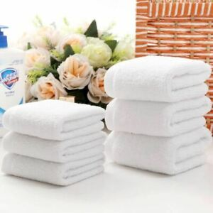 1 Pc White Cheap Face Towel Small Hand Towels Kitchen Hotel Restaurant Kind