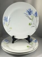 "Tabletops Gallery Wildflower Porcelain 10 1/2"" Dinner Plates Floral Set of 4"