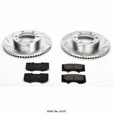 front Power Stop CRK6082 Coated Brake Rotor /& Ceramic Brake Pads