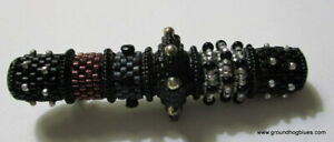 Valerie Hector Artist Made Beaded Brooch Amazing Art to Wear Sterling