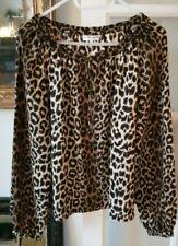 Gerard Darel silk leopard skin print silk blouse. Long sleeve. Size 38. 10/12 UK
