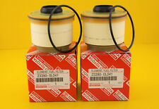 Genuine Toyota 23390-0L041 Diesel Fuel Filter Element 4x4 Hilux ( Pack of 2 )