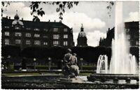Ansichtskarte Mannheim - Partie beim Wasserturm mit Denkmal/Brunnen