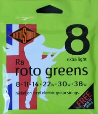 Rotosound R8 RotoGreens Electric Guitar Strings Gauge 8-38  - Made in the UK