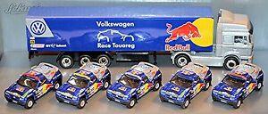 VW Race Touareg 2 Jahresset 2006 Rallye Dakar Red Bull 5 x PKW 1 x LKW MAN 1:87