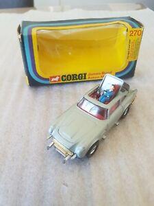 CORGI TOYS 270 JAMES BOND 007 ASTON MARTIN DB5 MODEL plus  baddie