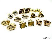 Estate Cuff Links Lot Gold Tone Cufflinks wear or resell lots mens jewelry