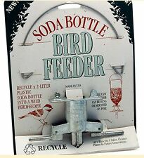 SODA BOTTLE BIRD FEEDER CAST ZINC