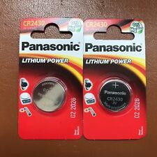 2 x Panasonic 2430 3V Key Battery CR2430 DL2430 BR2430 KCR2430 LONGEST EXPIRY