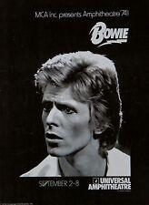 """David Bowie universal amphitheatre 16"""" x 12"""" Photo Repro Concert Poster"""