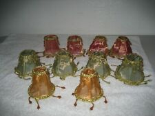 10 Vintage mesh miniature jewel lamp shade covers doll house chandelier