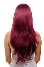 extensión de clip con 7 PINZAS 3/4 Peluca Roja Rojo Granate aprox. 60cm h9505-39