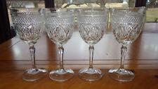 Wine Glasses Antique Clear by Cristal d'Arques France Antique pattern 4 8oz stem