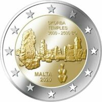 2 Euro  Gedenkmünze Malta 2020 - Skorba Tempel