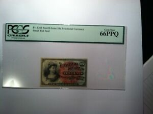 FR 1261 GEM NEW 66 PPQ Fractional Currency 10 Cent Note