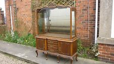 ANTIQUE GLAZED SHOP DISPLAY CABINET ON STAND. 1930's approx.