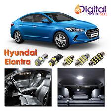6 x Super White Interior LED Lights Package Kit for 2013 - 2016 Hyundai Elantra