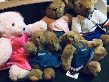 "5 Vermont Teddy Bear Company Jointed Pose-able Plush Bear16"" Mom & Kids, Hockey"