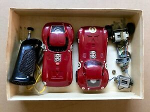 Two 1:24 Cox Cheetah Slot Cars In Box, w / Extra Chassis, Control, Motor, Parts