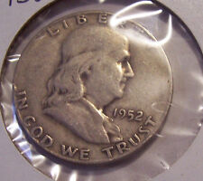 1952 S  FRANKLIN HALF DOLLAR COIN  SILVER