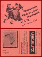 Schweiz 1979 Volksbräuche, Markenheft ERSTTAG-Stempel, Mi 0-72g, SBK 0-72a