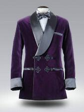Men Elegant Luxury Stylish Designer Purple Smoking Jacket Party Wear Blazers