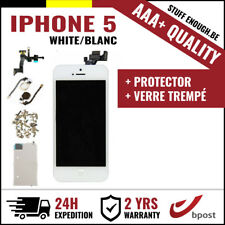 AAA+ LCD SCREEN SCHERM ÉCRAN ASSEMBLY WHITE BLANC + VERRE TREMPÉ FOR IPHONE 5