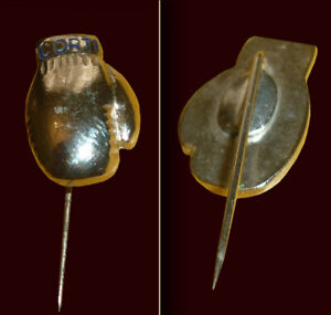 CORTI Gloves - Old Boxing Pin 1960's/1970's - Size 1.5 cm x 4 cm