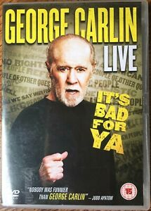 George Carlin It's Bad For Ya DVD Live Stand Up Comedy Classic Show