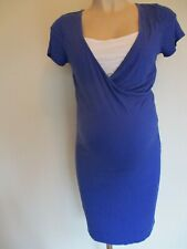 GEORGE MATERNITY & NURSING BLUE & WHITE DRESS SIZE 12
