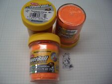 Berkley Power Bait Trout Bait Glitter Fl.Orange Muschel 3 x 50g-Glas 100g/6,66€