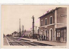 CPA 36100 NEUVY PAILLOUX Gare arrivée du train agents quai Edt GOURICHON