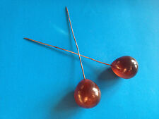 2x Aiguilles à Chapeau Anciennes en Bakélite / Hat Pin