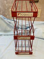 Vintage Nabisco Snacks Metal Store Display Sign Advertising Rack
