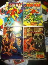 The Invincible Iron Man #39 #40 + submariner and hulk Tales to astonish #92 #96