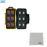 JJC Water-resistant Memory Card Case Hard Holder Fits 12 SD & 12 Micro SD Cards