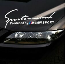 Headlight Bonnet Car Body Stickers Decals Graphics Sport mind For BMW (silver)