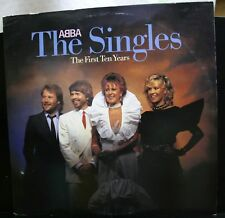 VINYL RECORD ALBUM ABBA THE SINGLES THE FIRST TEN YEARS DOUBLE EX EX