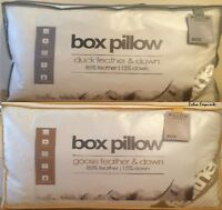 LUXURY GOOSE / DUCK FEATHER & DOWN FILLING BOX PILLOW EXTRA FILLING & COMFORT