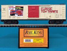 30-74050 MTH Railking O/O27 Classic Toy Trains 15th Anniversary Box Car NIB